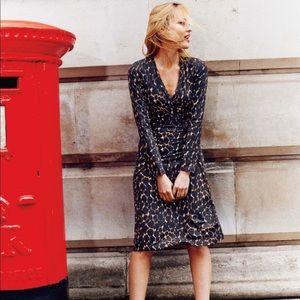 🐆 Boden wrap dress jersey knit leopard print 6